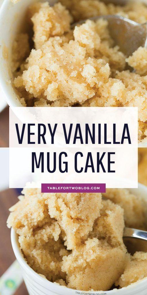 very vanilla mug cake | mug treats | Vanilla mug cakes ...