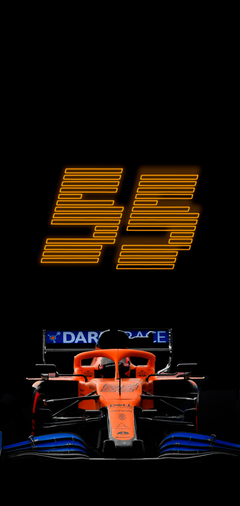 Carlos Sainz Mcl35 F1 2020 1080x2280 9 19 Amoledbackgrounds In 2020 Mclaren F1 Mclaren F1 Poster
