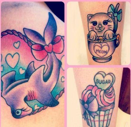 Girly hammerhead shark tattoo