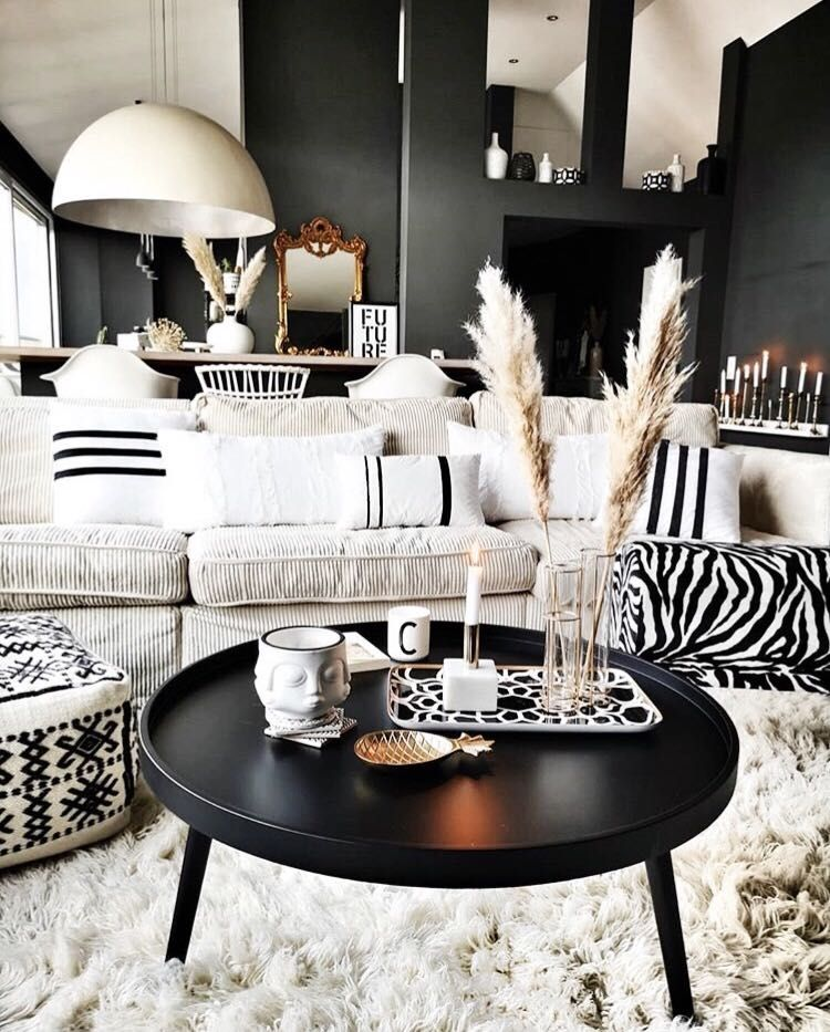 Black And White Scandinavian Boho Home Decor Black And White Living Room Black And White Living Room Decor Living Room White