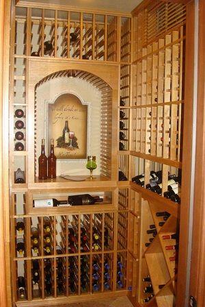 Walnut Winecellar With Beeswax Finish From Rosehill Wine Cellars Winestorage Experts Wine Cellar Design Cellar Design Wine Cellar