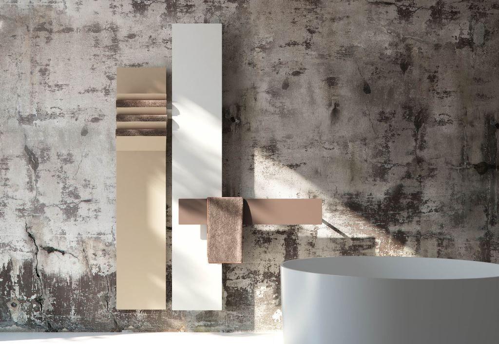 De Flaps: fraaie radiator in combinatie met een handdoek. http://instamat.nl/product/flaps/