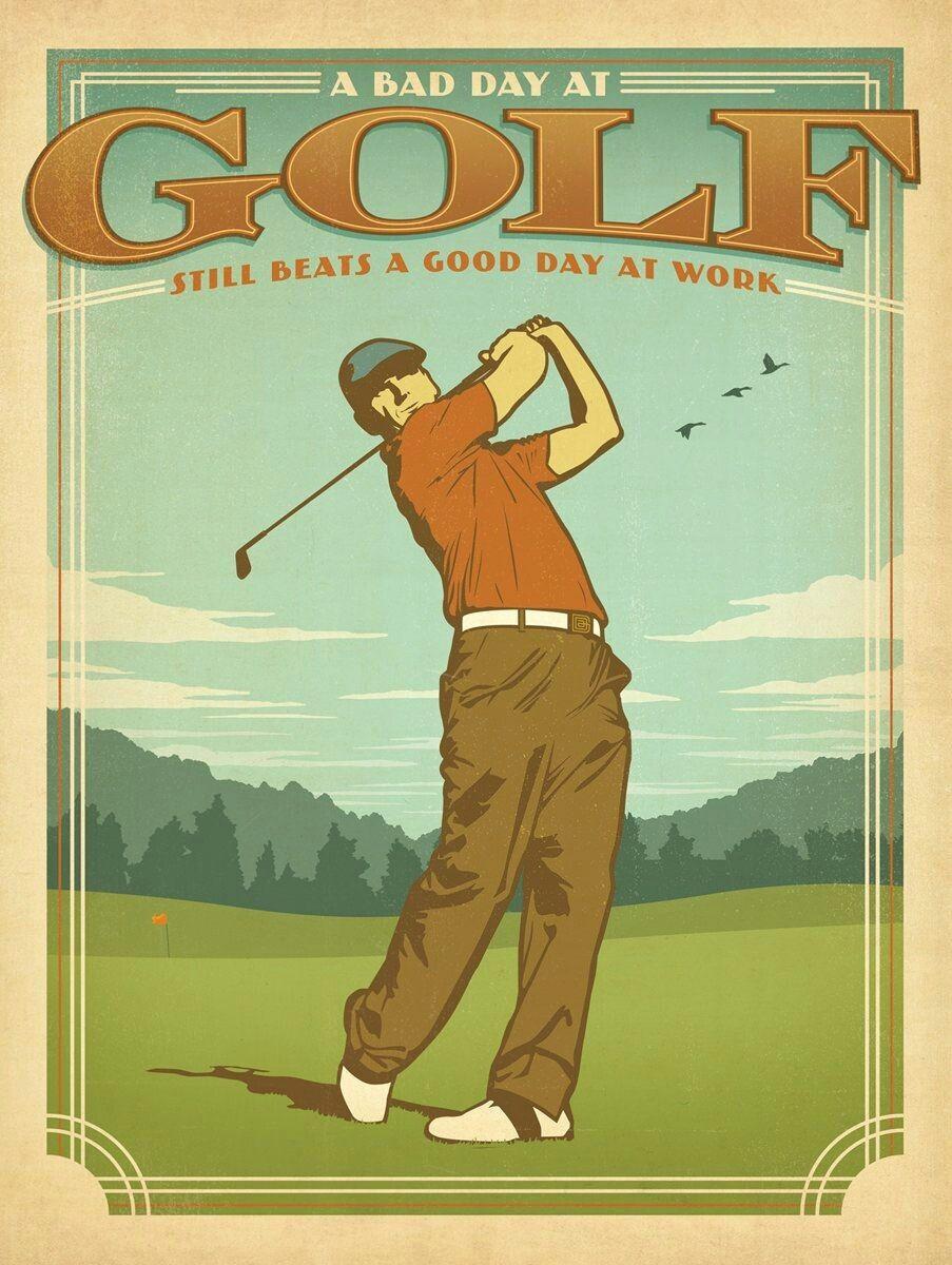 Pin Van Marian Op Ephemera Vintage Golf Golf Poster