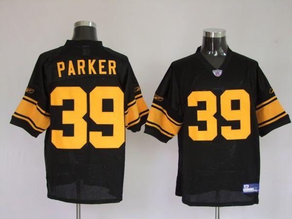 8ebadbf3b74 $25.0075Th Reebok NFL Jersey Equipment Pittsburgh Steelers Willie Parker  #39 Black