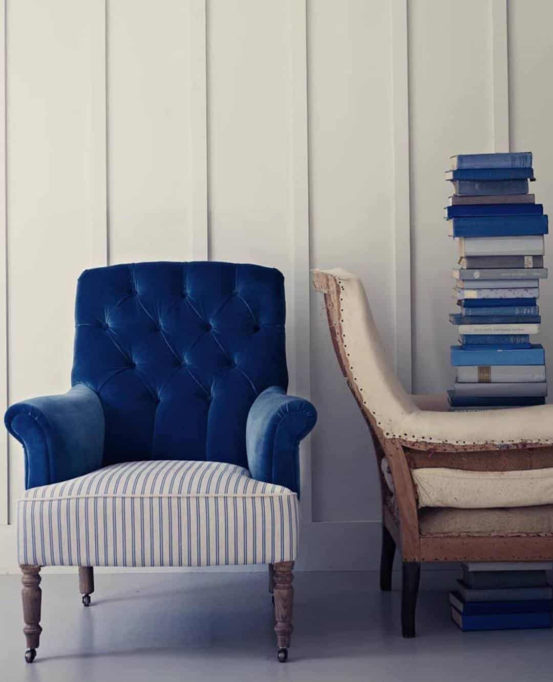Blue And White Striped Chair How To Reupholster A Chair Upholstery Chair Armchair Striped