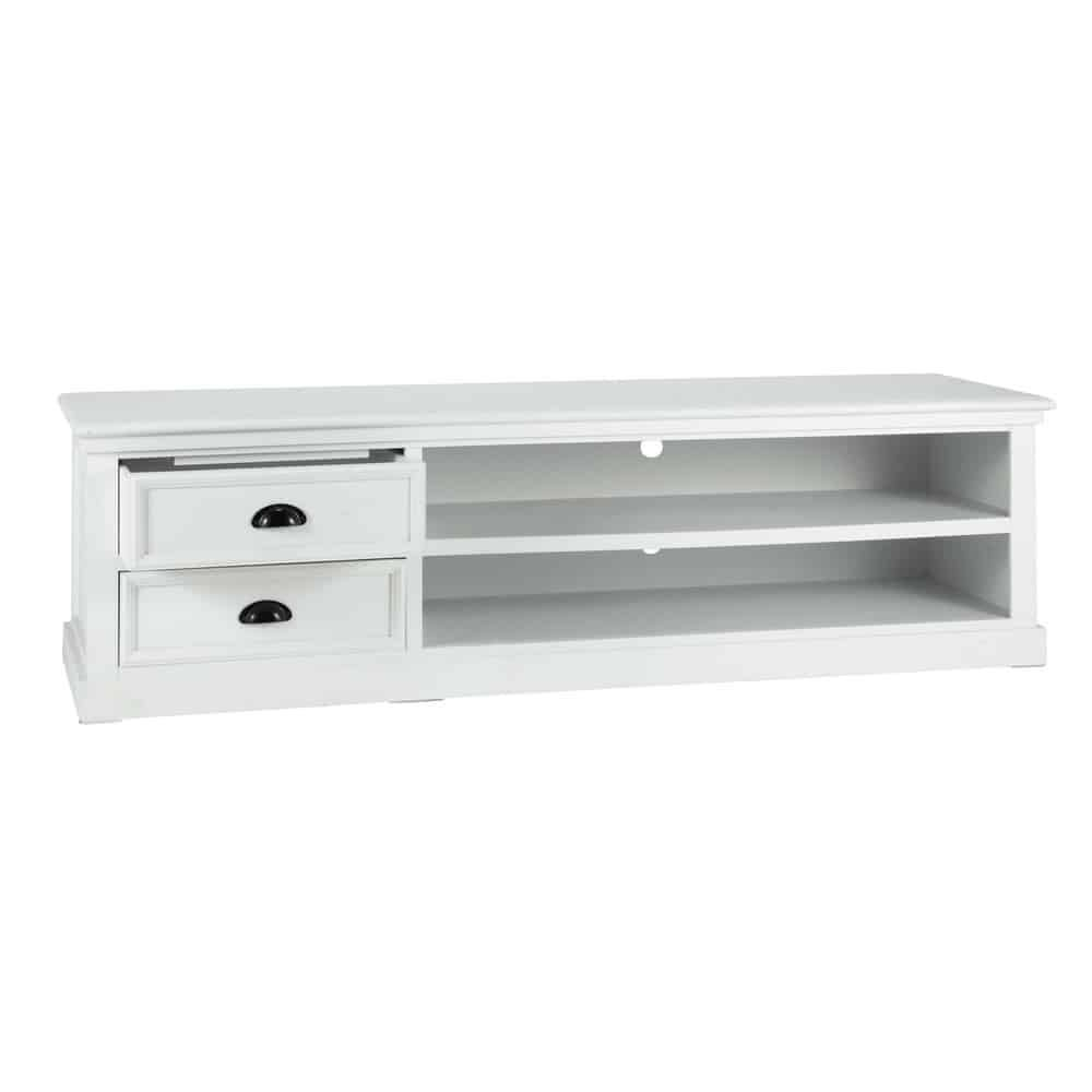 Meuble Tv En Pin Blanc L 160 Newport Am Nagement Int Rieur  # Meuble Tv En Pin Blanc