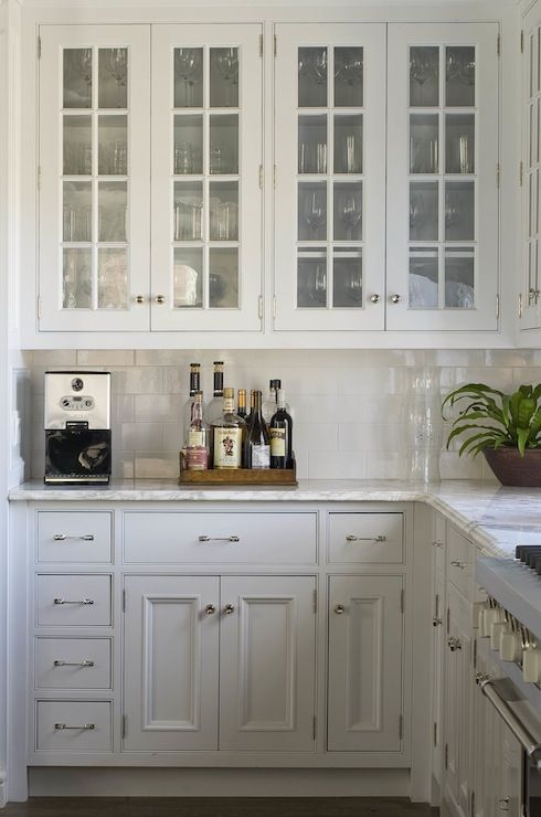 Phoebe Howard Charming Kitchen With Glass Front Upper
