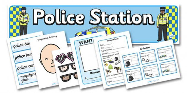 Police Station Role Play Pack Imaginative play Pinterest - police incident report template word