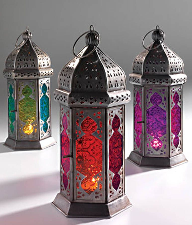 Colorful Iron Moroccan Lantern With