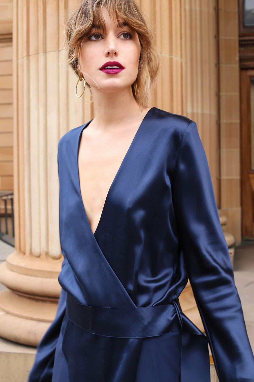 Dark Blue Prom Dress Makeup