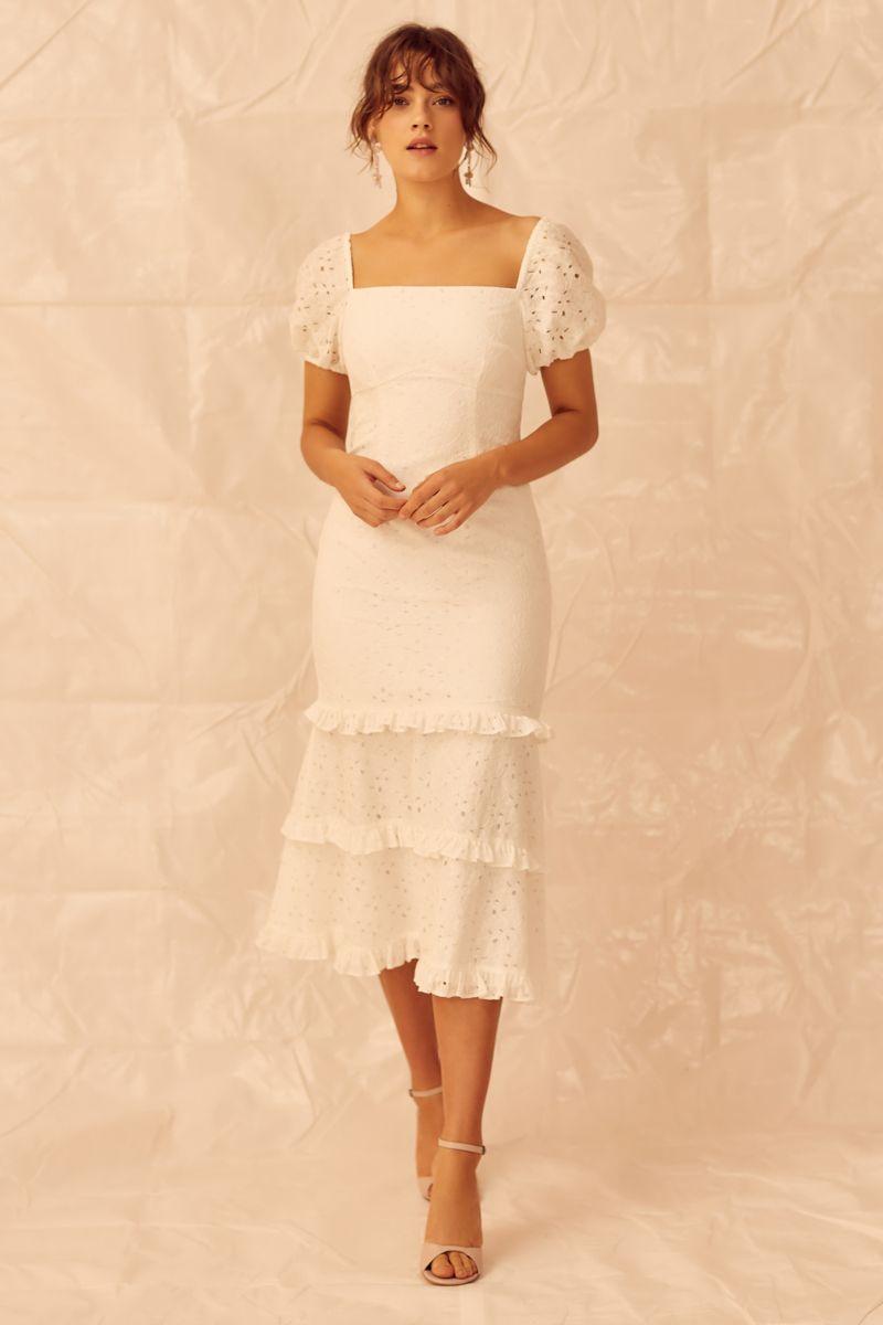 Keepsake Higher Lace Dress in Ivory