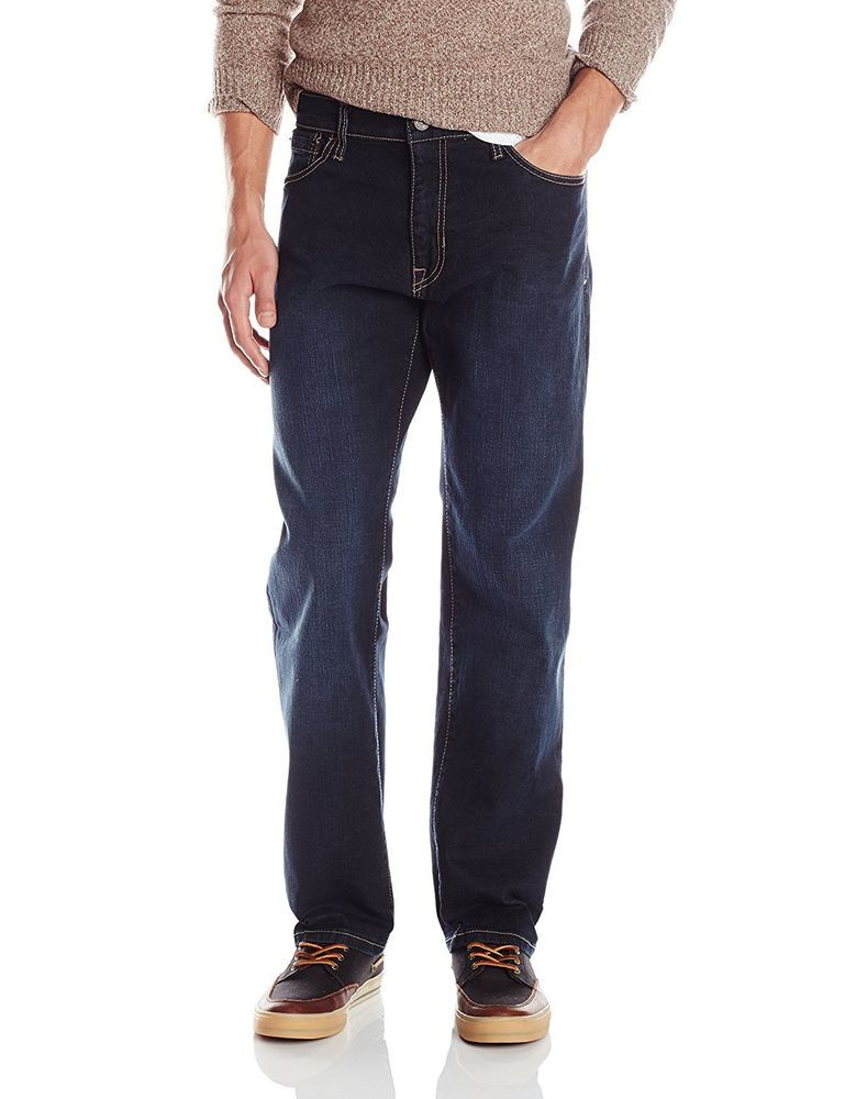 747daa30a9 Izod Mens Jeans Comfort Stretch Relaxed fit Straight Leg Big Tall size  58x30 NEW 24.99 http