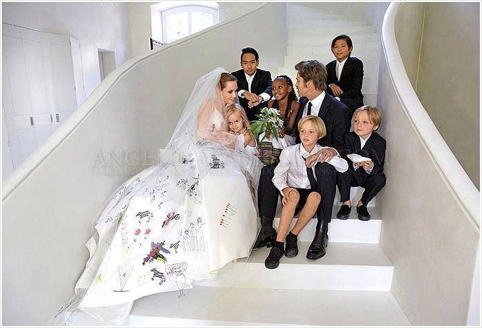 2014 Angelina Jolie Brad Pitt Wedding Angelina Jolie Wedding Celebrity Wedding Dresses Celebrity Weddings
