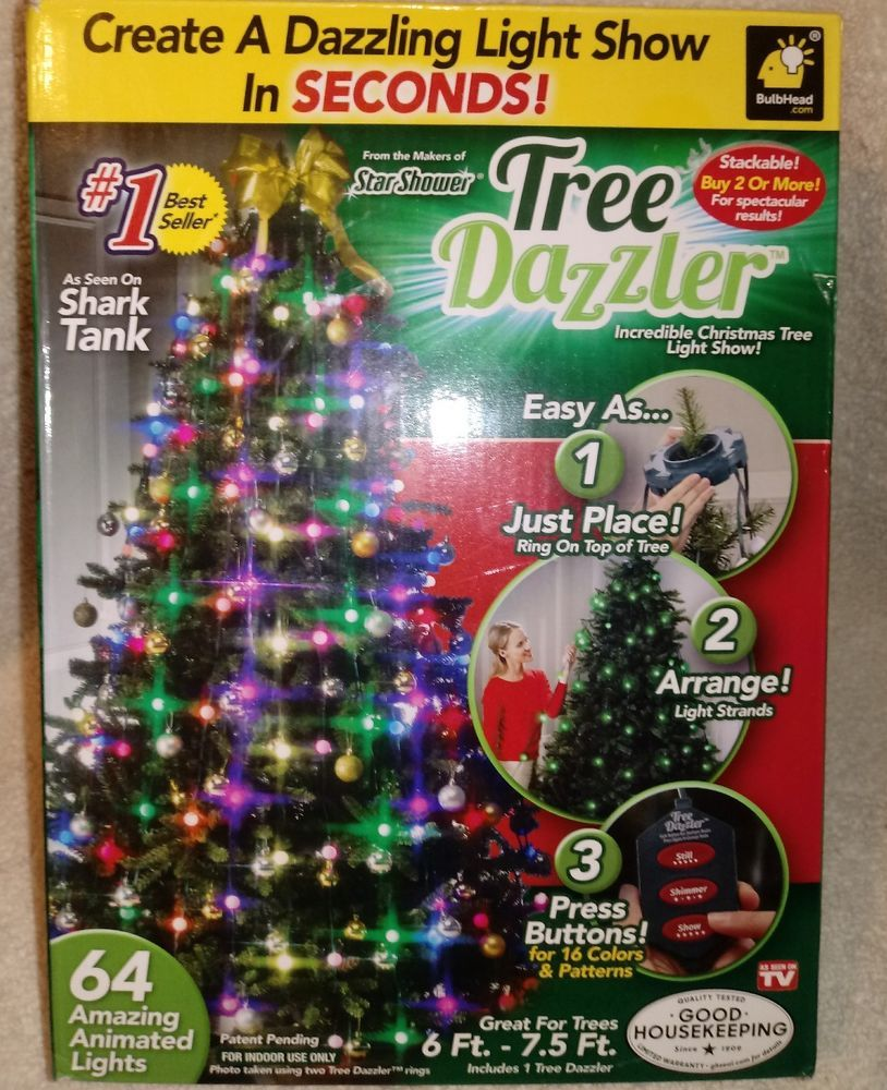 Details about TREE DAZZLER INCREDIBLE CHRISTMAS TREE LIGHT SHOW AS ...