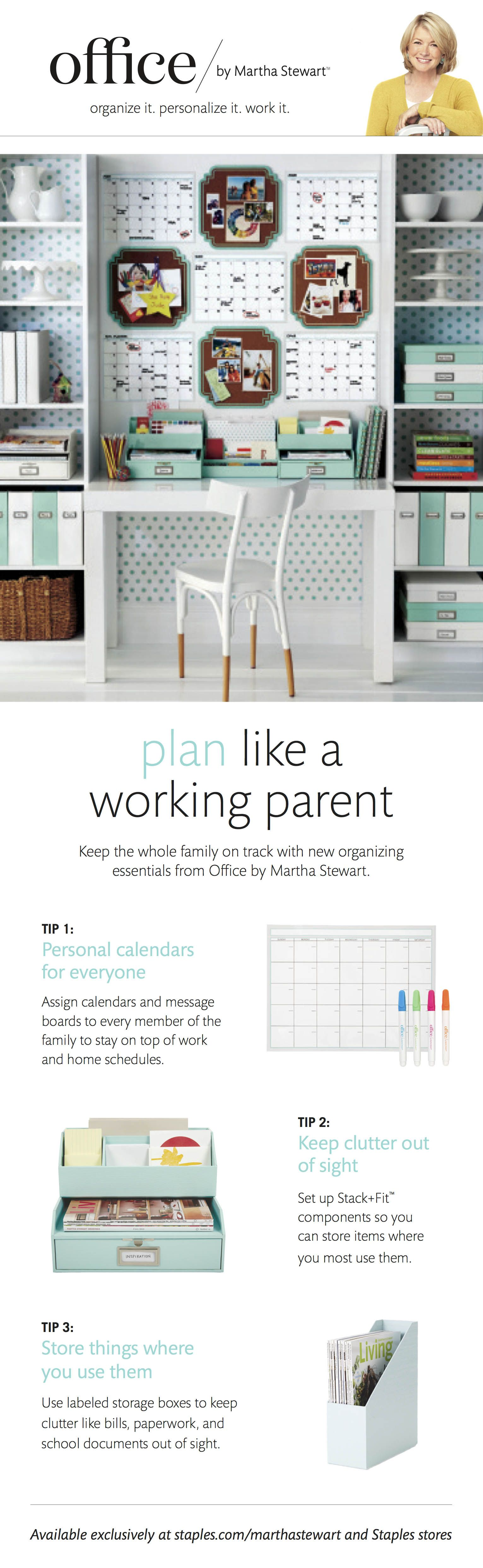 Organize with Office by Martha Stewart™ products to add a bright pop ...