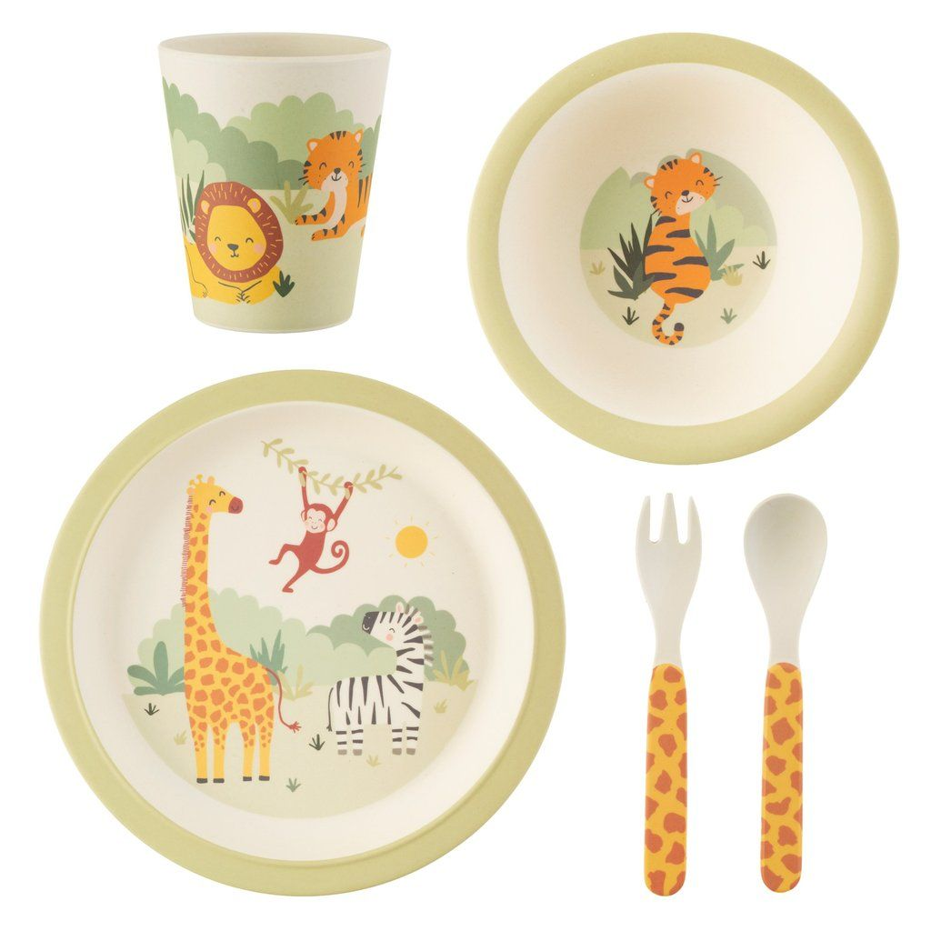 Sass /& Belle Woodland Baby Bamboo Tableware Set
