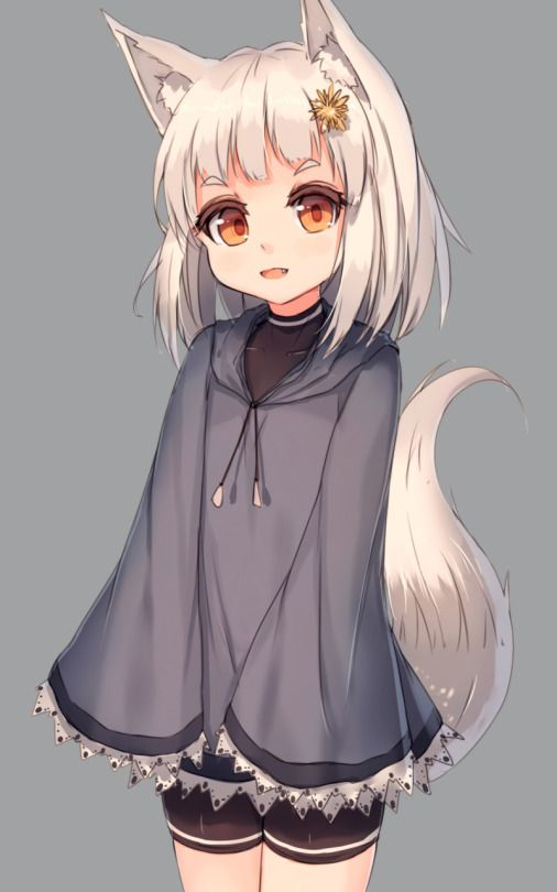 Pin On Wolf Fox Anime Girl