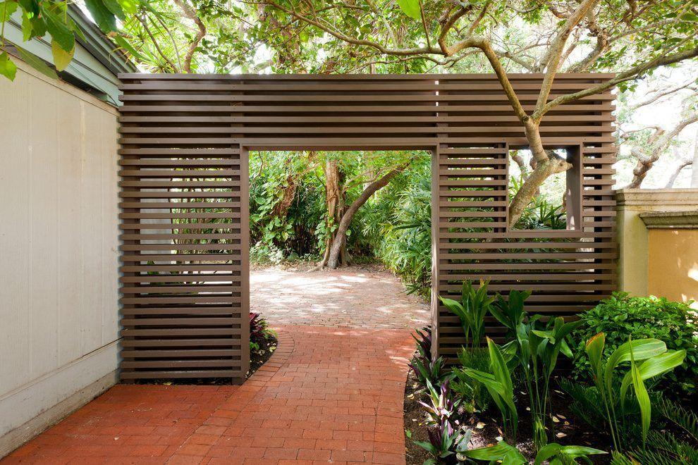 Modern Gates And Fences Landscape Midcentury With Modern Exterior Piece Outdoor Sofa Sets With Images Modern Backyard Modern Landscape Design Modern Landscaping