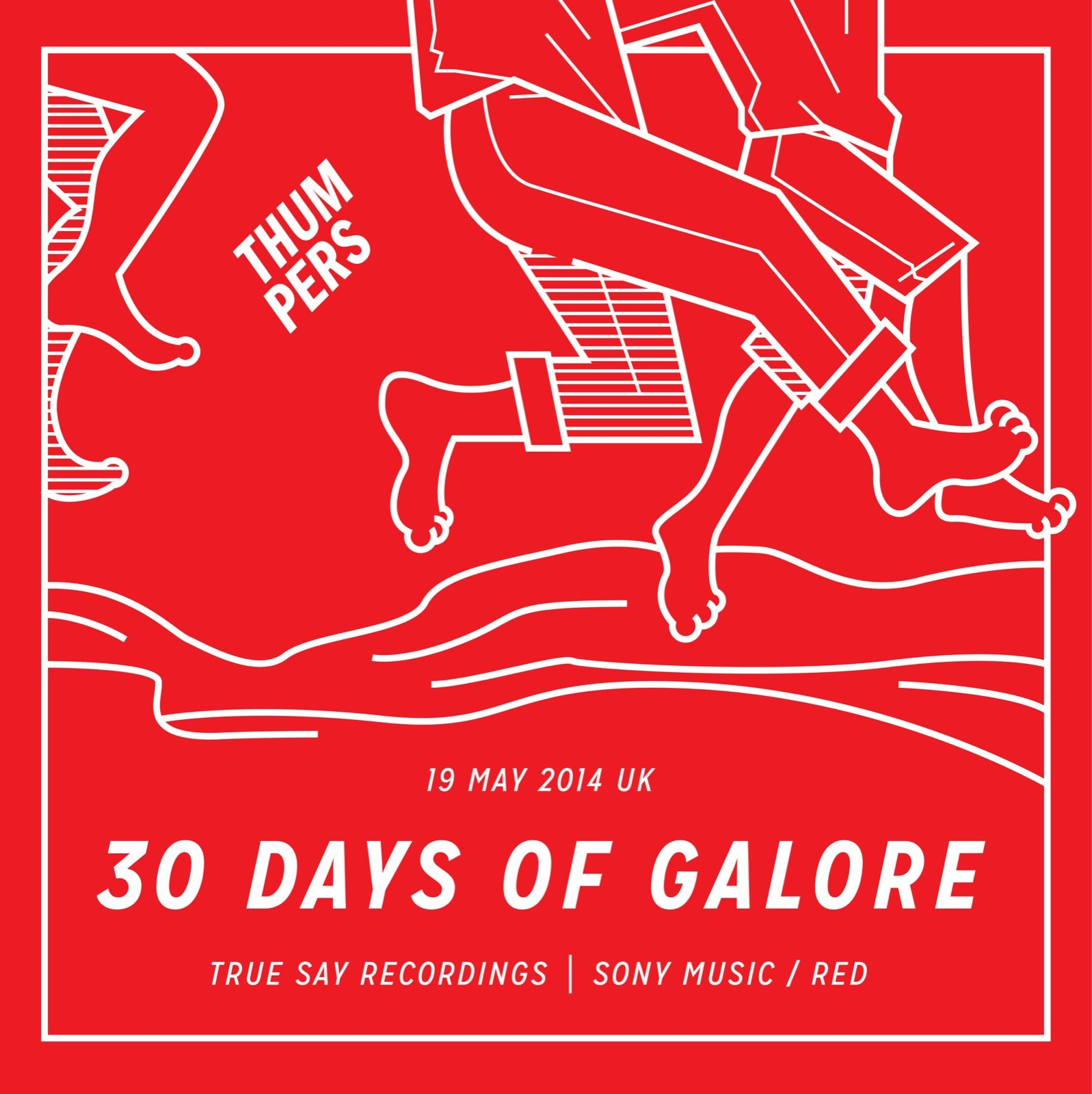 Alternate reverse-color version of 04 #30daysofgalore #thumpers #galore #ukmusic #music #typography #design & #illustration