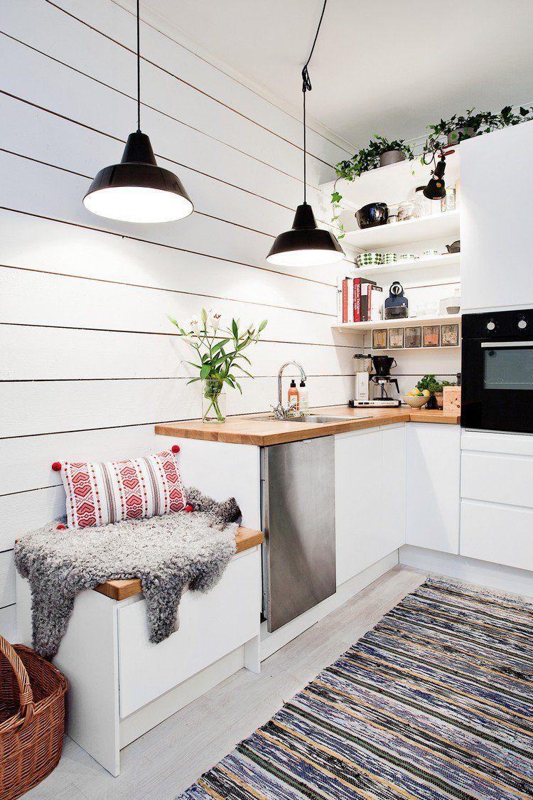 diy d co scandinave id es pour la cuisine avec des suspension en m tal tapis ethnique et. Black Bedroom Furniture Sets. Home Design Ideas