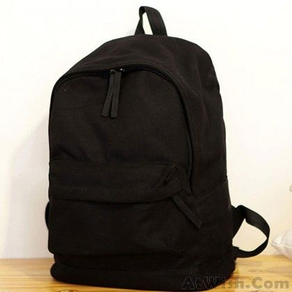 Photo of Fresh Pure Color Solid Rucksack School Bag For Girl Canvas B…
