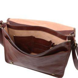 4ef069442fa5 TL Messenger Two compartments leather shoulder bag - Large size Honey  TL141254