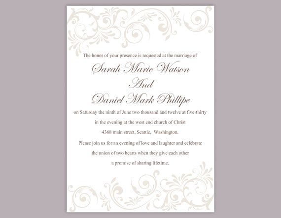 Invite Templates For Word Wedding Invitation Template Download Printable Wedding Invitation .