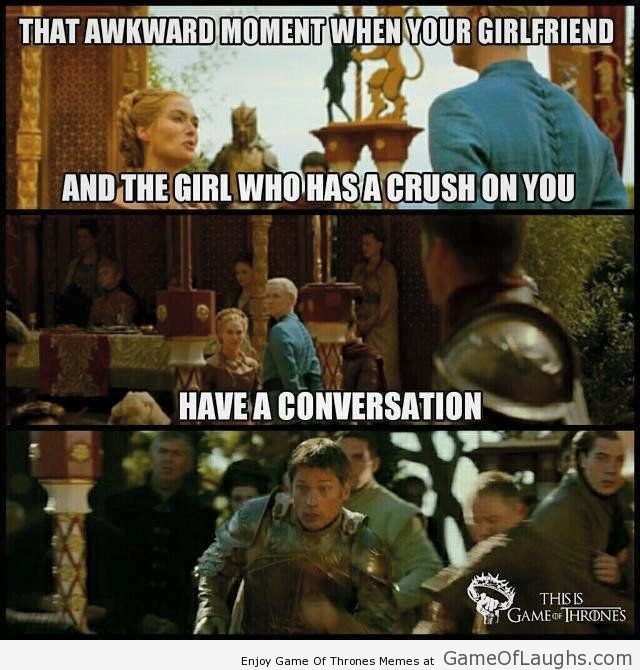 When the girl you are dating kills the conversation