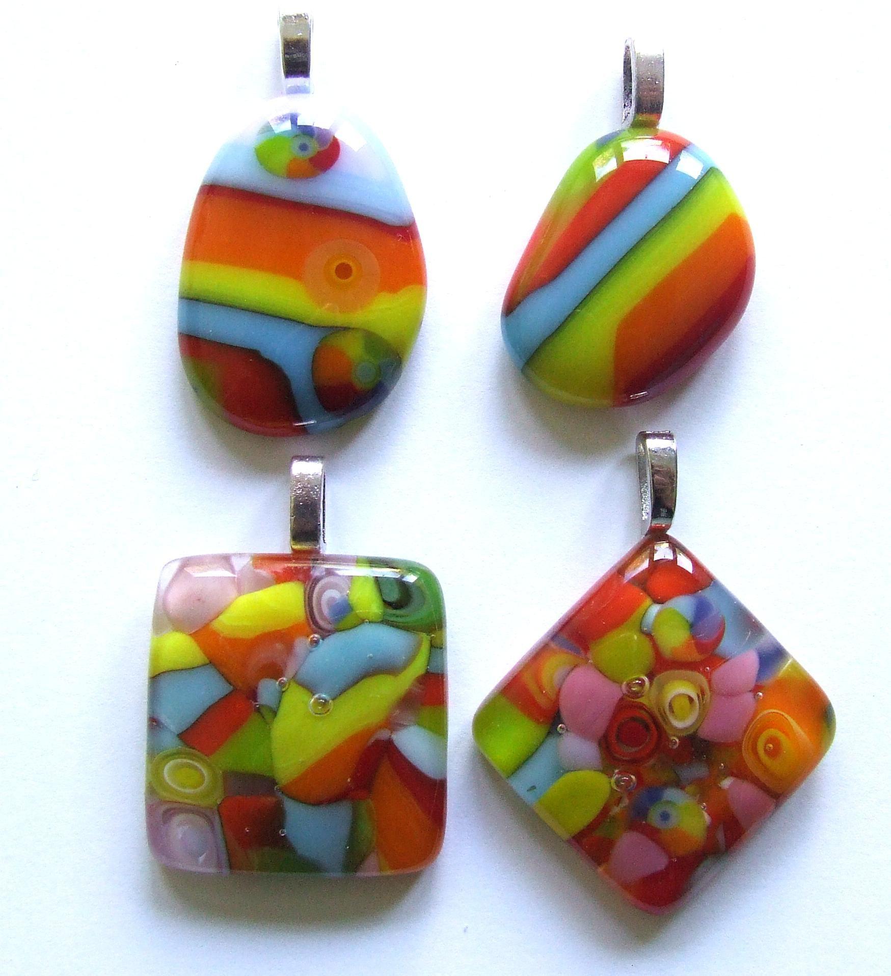 25 easy pendants part 2 in 2020 glass art fused glass