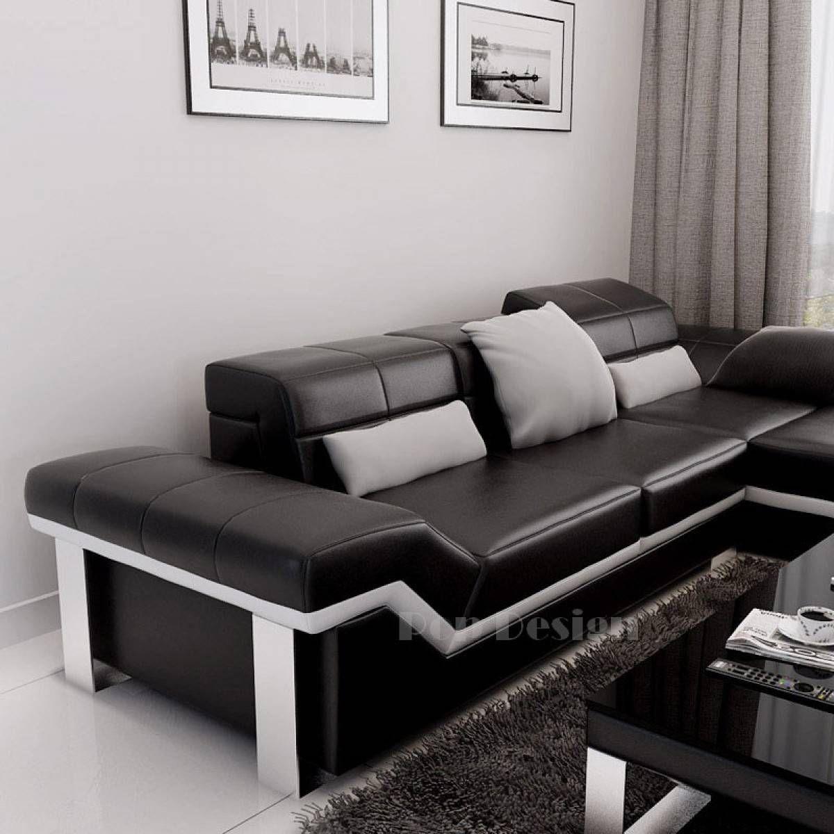 Canape Cuir D Angle Design Canape D Angle Design En Cuir Torino Pouf In 2020 Design Home Decor