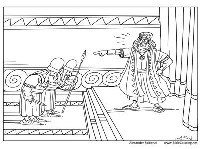 Christmas story. King Herod (Matthew 2). More in http://biblecoloring.net/