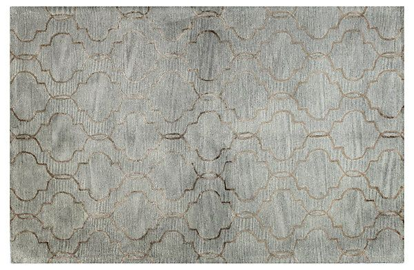 One Kings Lane - Fresh Cuts - Curtain Rug, Silver/Copper