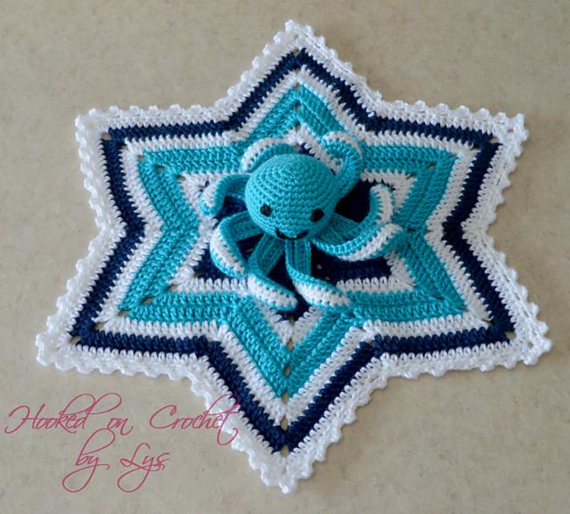 6 Point Star Baby Lovey Blanket Free Crochet Pattern   Free Crochet ...
