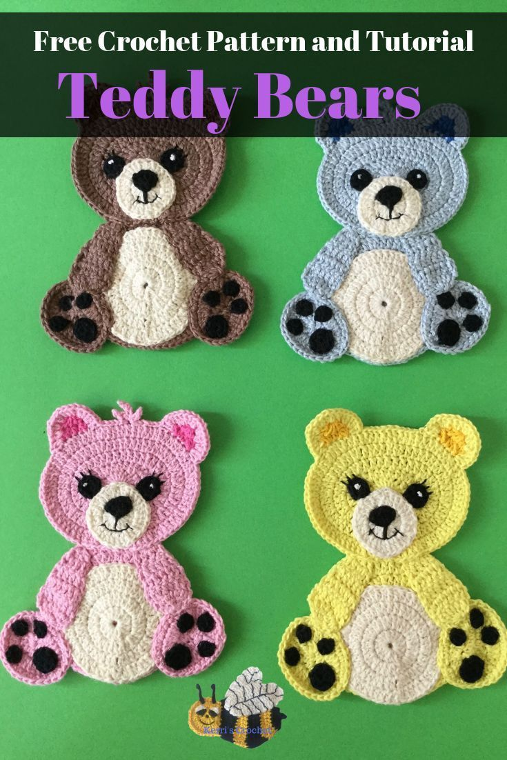 Learn how to crochet these teddy bears with my free crochet pattern,  #bears #Crochet #Free #... #babyteddybear