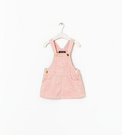 ZARA - KIDS - BASIC CORDUROY PINAFORE DRESS