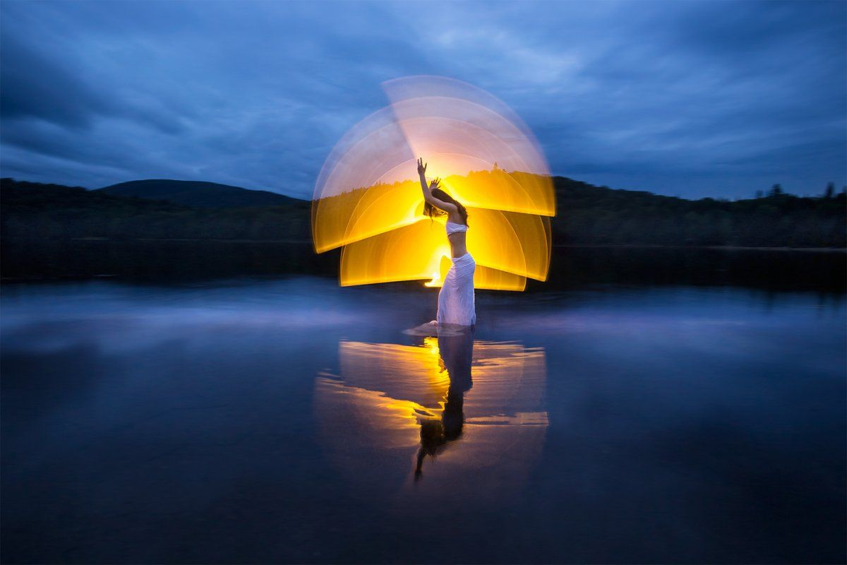 This photographer can bend light and color to create some pretty ... for Light Painting Landscape Photography  186ref