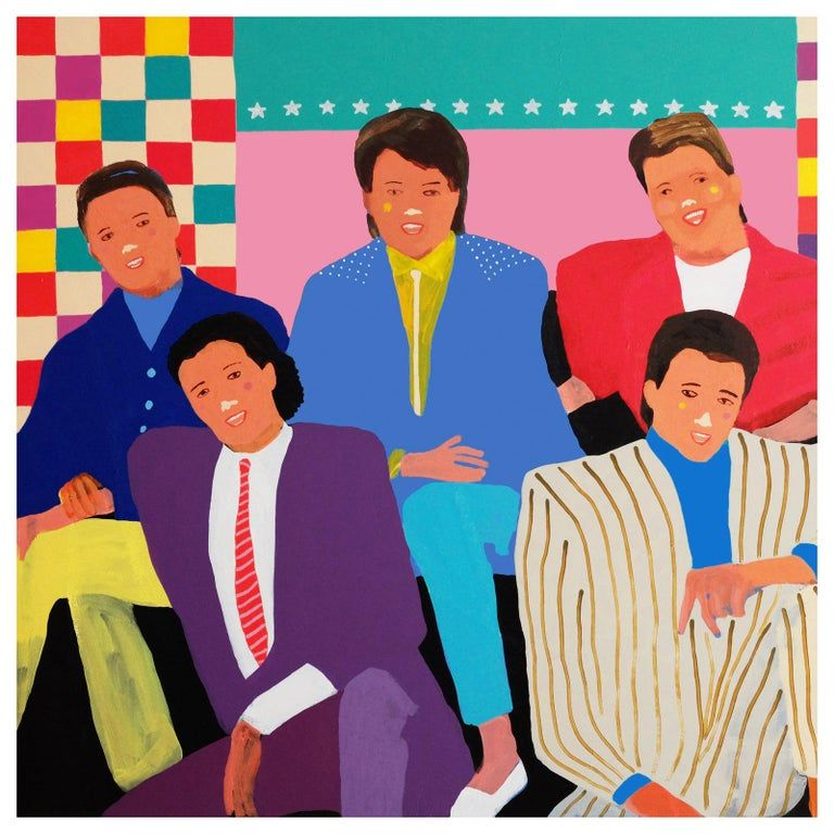 Alan Fears The Simple Things Portrait Painting Pop Art