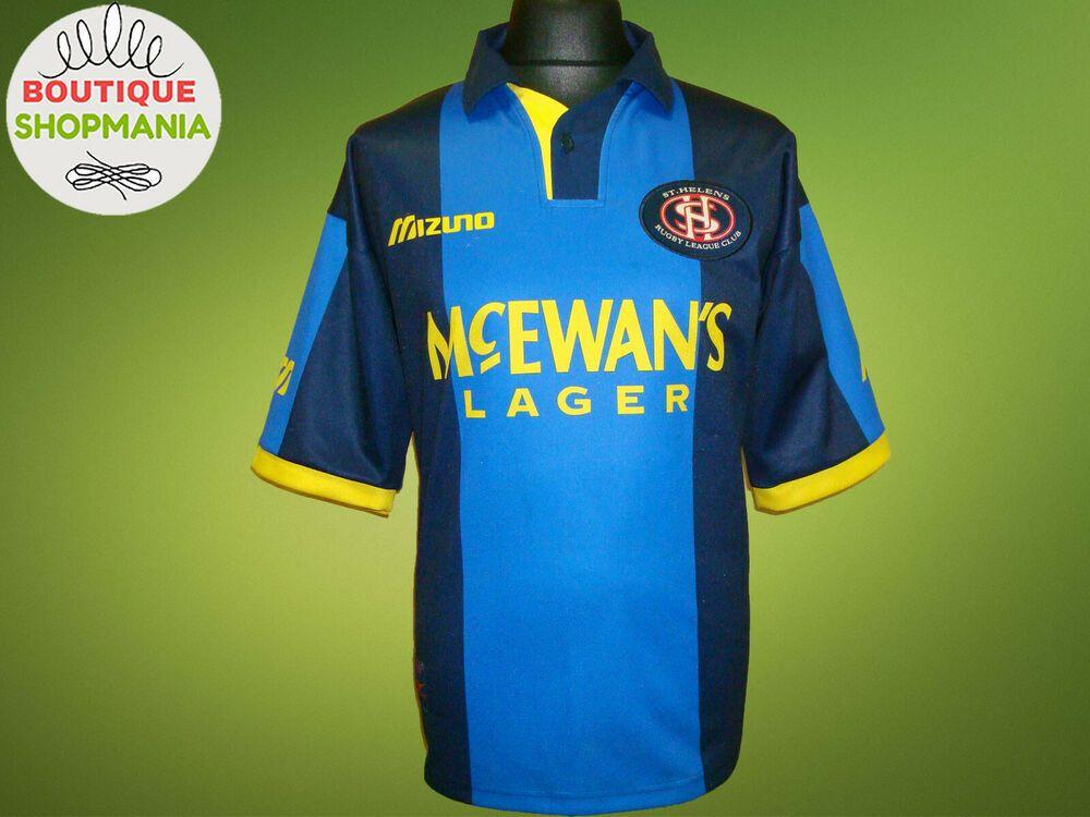 St HELENS EUR Super League Altern/Away 1997-1998 L-XL MIZUNO RUGBY SHIRT Jersey