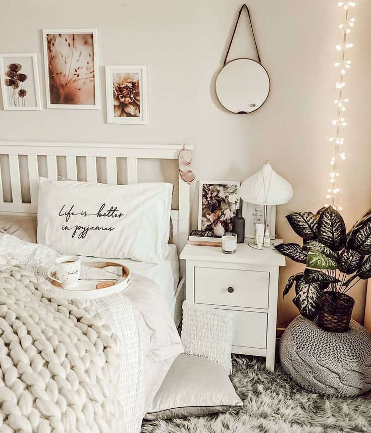 Boho Schlafzimmer Dekor Idee Mit Ikea Hemnes Mobeln Neutrale