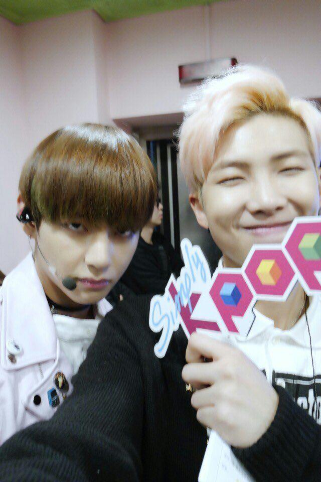 V ( Taehyung ) & Rap Monster - BTS at Simply Kpop Twitter ...