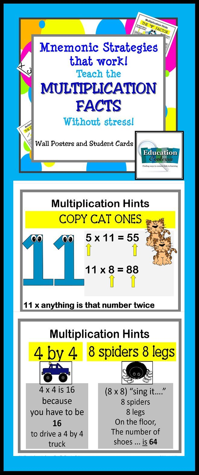 Mnemonic Strategies That Work Teach Multiplication Facts Fast And