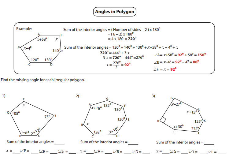 45++ Harmonious polygon and angles worksheet ideas