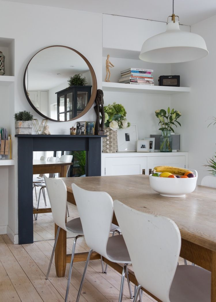 A Cozy Cool Modern Country Uk Home Home Modern Kitchen Tables Stockholm Mirror Ikea