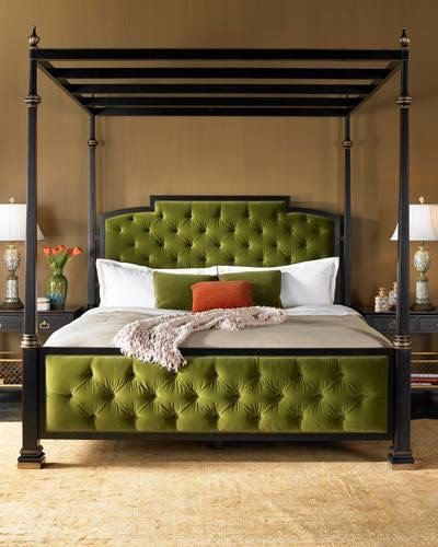 Newport Mansions Coaching Collection Upholstered King Bed by EJ ...