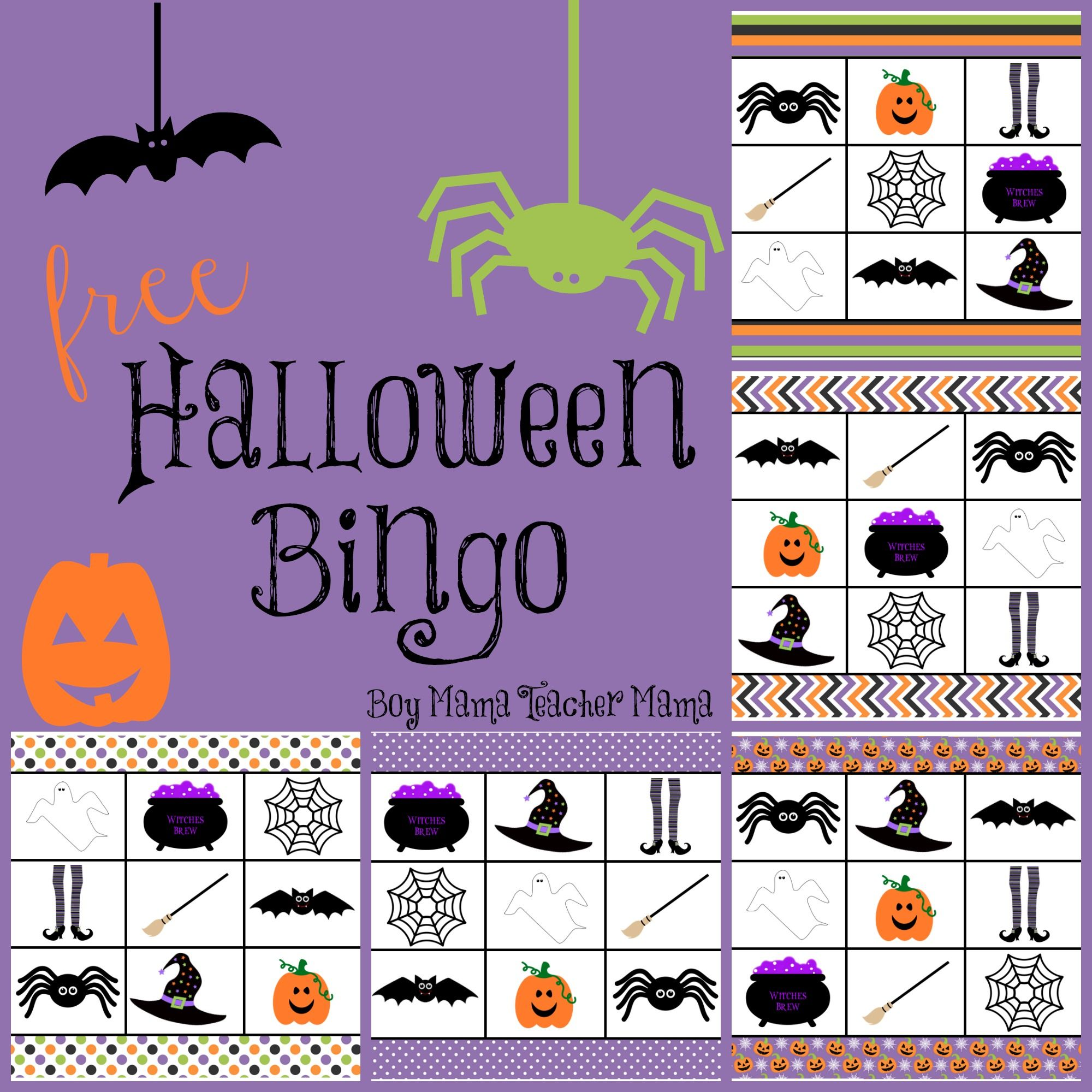 Boy Mama Free Halloween Bingo Game Thema Free