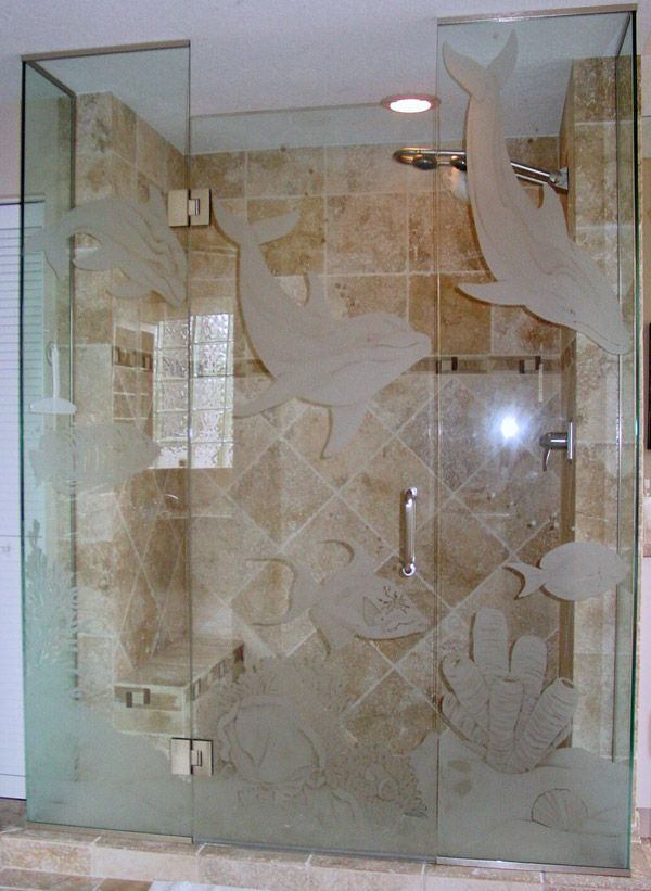 Etched Glass Shower Doors Bonita Springs Florida