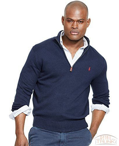 Polo Ralph Lauren Men\u0027s Half-Zip Mockneck Sweater, Hunter Navy, S