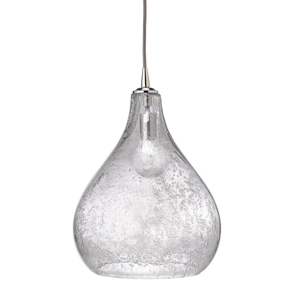 Living Room Study Room Mini Pendant Light Hanging with Groove Clear Glass Shade for Kitchen