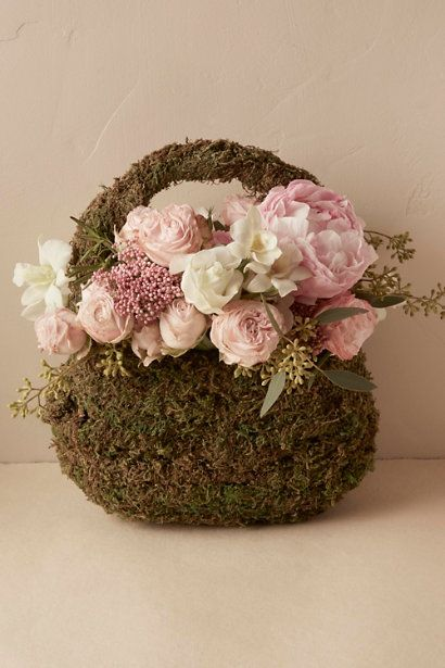 Forest Moss Basket in  Gifts & Décor  View All Décor | BHLDN
