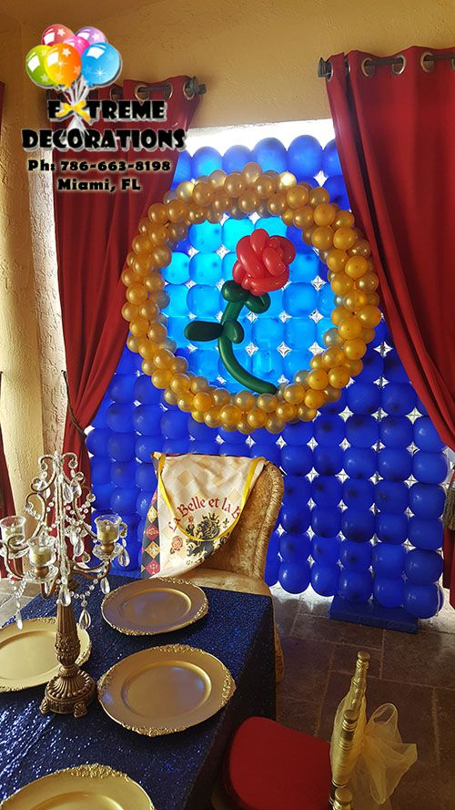 Beauty And The Beast Balloon Wall Party Decorations Miami Princess